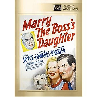 Marry the Boss's Daughter [DVD] USA import