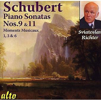 F. Schubert - Schubert: Pianosonat nr 9 & 11; Stunder annat [CD] USA import