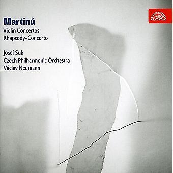 B. Martinu - concierto para importación de USA de violín y orquesta 1 & 2 [CD]