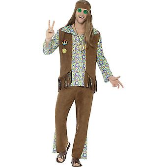 60s flower power hippie costume men