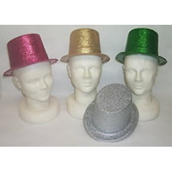 Glitter Top Hat Assorted Colours ( 12 to a pack )