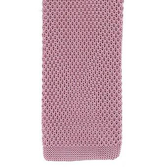 Michelsons of London Silk Knitted Skinny Tie - Pink