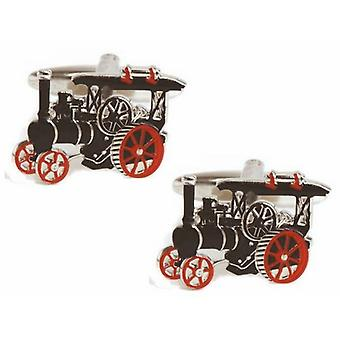 Zennor Traction Engine Cufflinks - Black