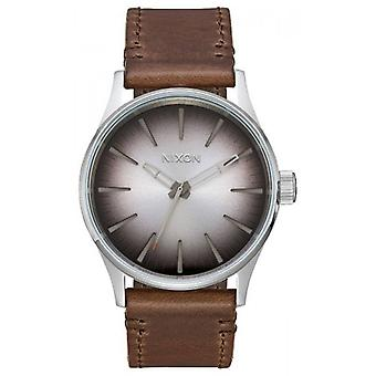 Nixon The Sentry 38 Leather Watch - Ombre/Brown