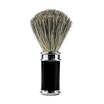 Edwin Jagger 81SB8611 Black & Chrome Pure Badger Shaving Brush