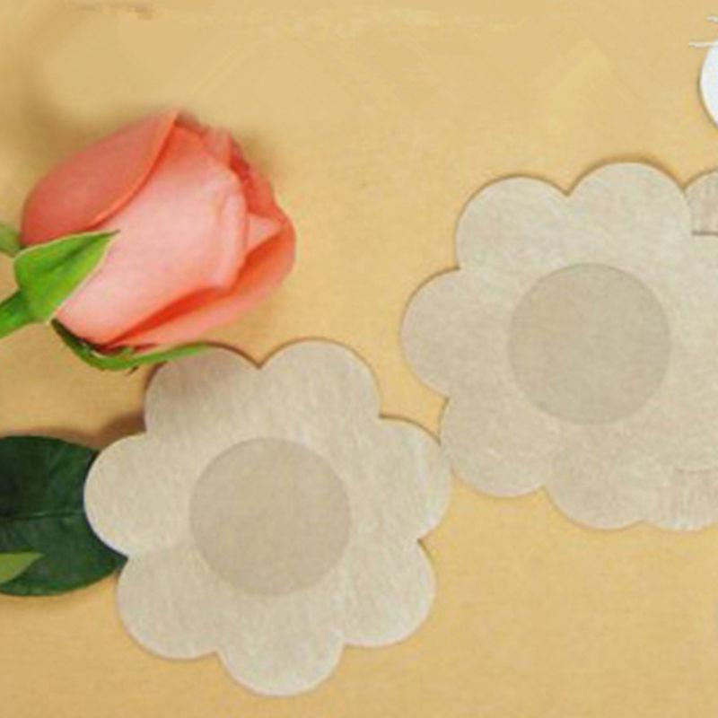 10 Pairs Petal Self Adhesive nipple covers pads patches wedding dress braless reusable by Boolavard