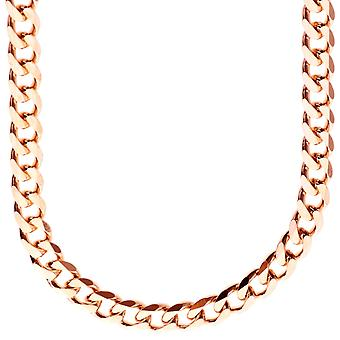En argent 925 sterling curb chain - CURB 7, 4 mm rose or