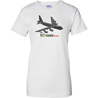 B52 Bombardero - muerte desde arriba - Stratofortress de la USAF avión - señoras T Shirt