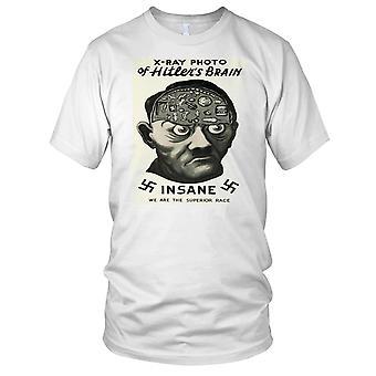 Xray Photo Of Hitlers Brain Nazi Insane Kids T Shirt