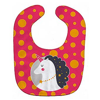 Carolines schatten BB7138BIB Unicorn oranje Polkadots Baby slabbetje