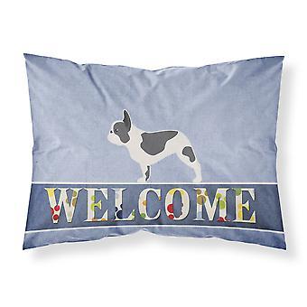 French Bulldog Welcome Fabric Standard Pillowcase