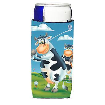Kuh spielen Golf Michelob Ultra Getränk Isolator für schlanke Dosen