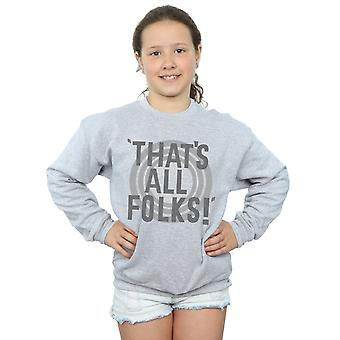 Looney Tunes Girls That's All Folks Text Sweatshirt
