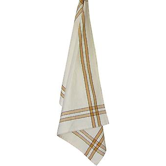 Cream Towel with Pumpkin & Black Stripes 20
