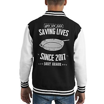 Yes We Pan PlayerUnknown Battleground Kid's Varsity Jacket