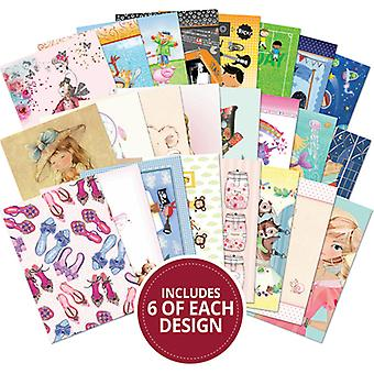 Hunkydory The Little Book Of A6 Paper Pad 144/Pkg-Little Dudes & Perfect Princesses LBK153