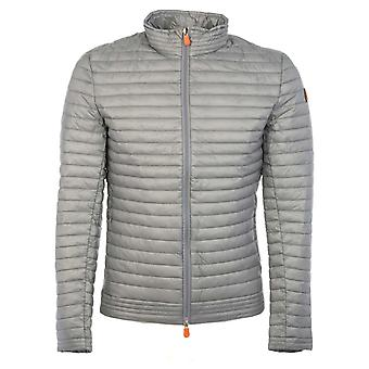 Save the duck men's D3643MDENY400118 grey polyamide Quilted Jacket