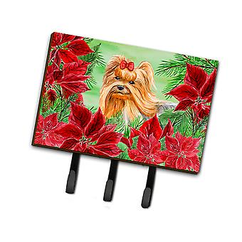 Carolines Treasures  CK1333TH68 Yorkshire Terrier Poinsettas Leash or Key Holder