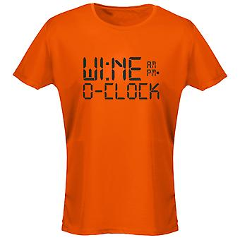 Wine O'Clock Alcohol Humour Funny Womens T-Shirt 8 Colours by swagwear