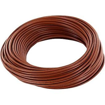 Jumper wire 1 x 0.20 mm² Brown BELI-BECO D 105/10