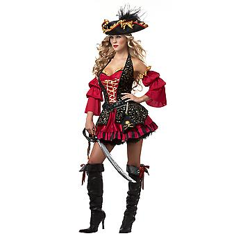 Spanish Pirate of Carribbean Wench Swashbuckler Book Week Womens Costume