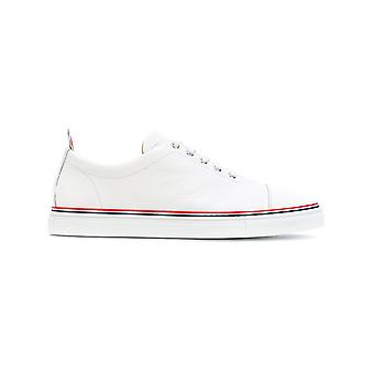 Thom Browne men's MFD067B00198100 White leather of sneakers