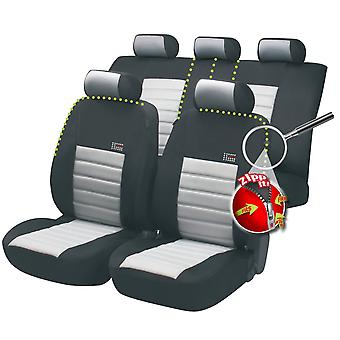 Sport Speed Car Seat Cover Black & Grey For Honda CIVIC V Coupe 1993-1996