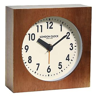 Urban Luxe Maxwell Wooden Block Mantel Clock
