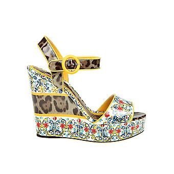 Dolce E Gabbana ladies CZ0042AS166HHI84 multicolour leather wedge heel