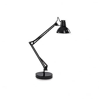 Ideal Lux Wally Black Adjustable Table Desk Lamp Pixar Style Lamp, Black