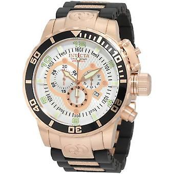 Invicta Corduba 10620 roestvrijstaal, polyurethaan chronograaf horloge