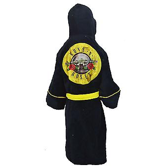 Guns and Roses Kids Dressing Gown / Bathrobe (boys girls children's child' robe) - Medium