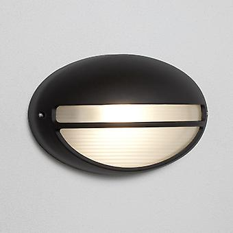 Outdoor & Porch 60w Black Oval Flush