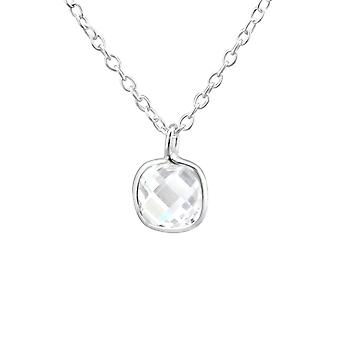 Square - 925 Sterling Silver Necklaces - W27954X