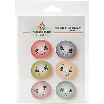 Peachy Keen Stamps Clear Face Assortment 6/Pkg-In The Garden