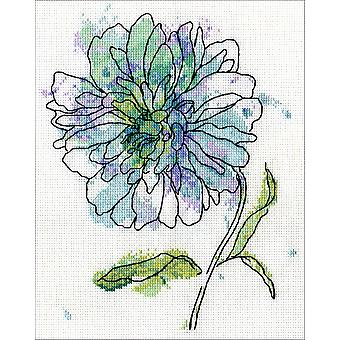 Blue Floral Counted Cross Stitch Kit-8