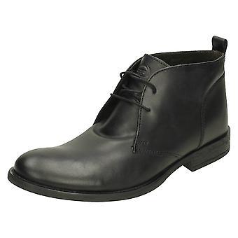 Mens Base London Formal Ankle Boots Teak