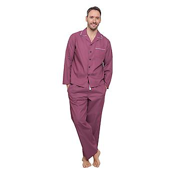 Cyberjammies 6282 Herren Austin Red geometrische Pyjama Pyjama Top