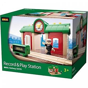 BRIO train station with sound recording function-33578