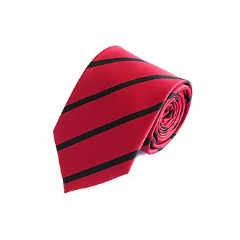 Tie slips binde bånd 8cm rød svart stripete Fabio Farini