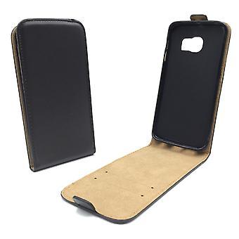 Handyhülle Tasche für Handy Samsung Galaxy S6 Edge+ Schwarz