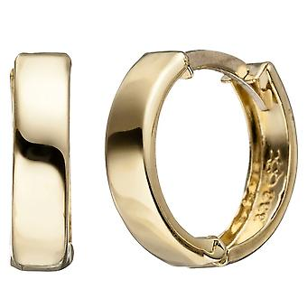 Hoops around 333 gold yellow gold earrings Goldcreolen gold earrings