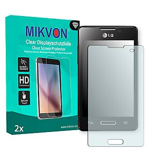 LG E440 Optimus L4 II Screen Protector - Mikvon Clear (Retail Package with accessories)