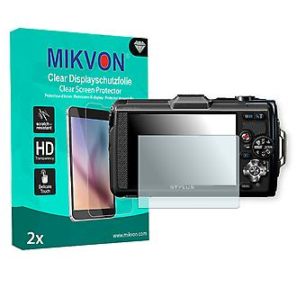 Olympus TG-2 Screen Protector - Mikvon Clear (Retail Package with accessories)