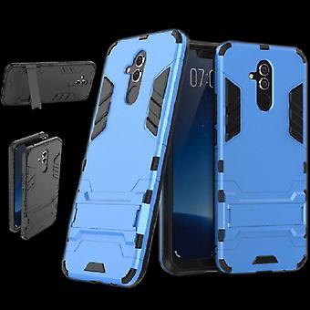 Voor Huawei mate 20 Lite metalen stijl buiten licht blauwe zak gevaldekking van bescherming nieuwe