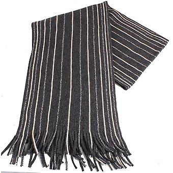 Bassin and Brown Bingham Striped Scarf - Charcoal/Grey