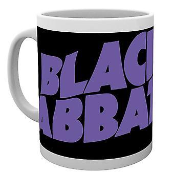 Black Sabbath Mug classic Wavy Band Logo Ozzy Osbourne new Official White Boxed