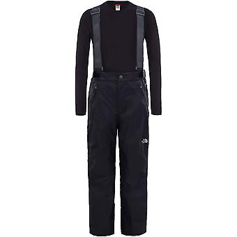 North Face Youth Snowquest Suspender Plus Pant - TNF Black