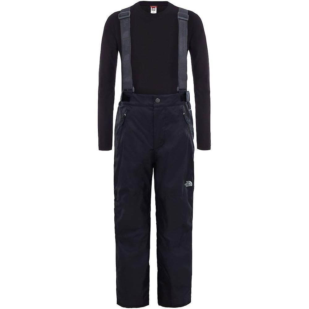 North Face Youth Snowquest Suspender Plus Pant - TNF Black