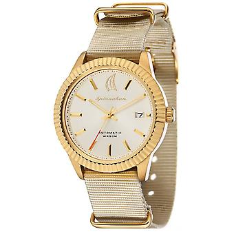 Spinnaker Bernard Automatic Watch - White/Gold